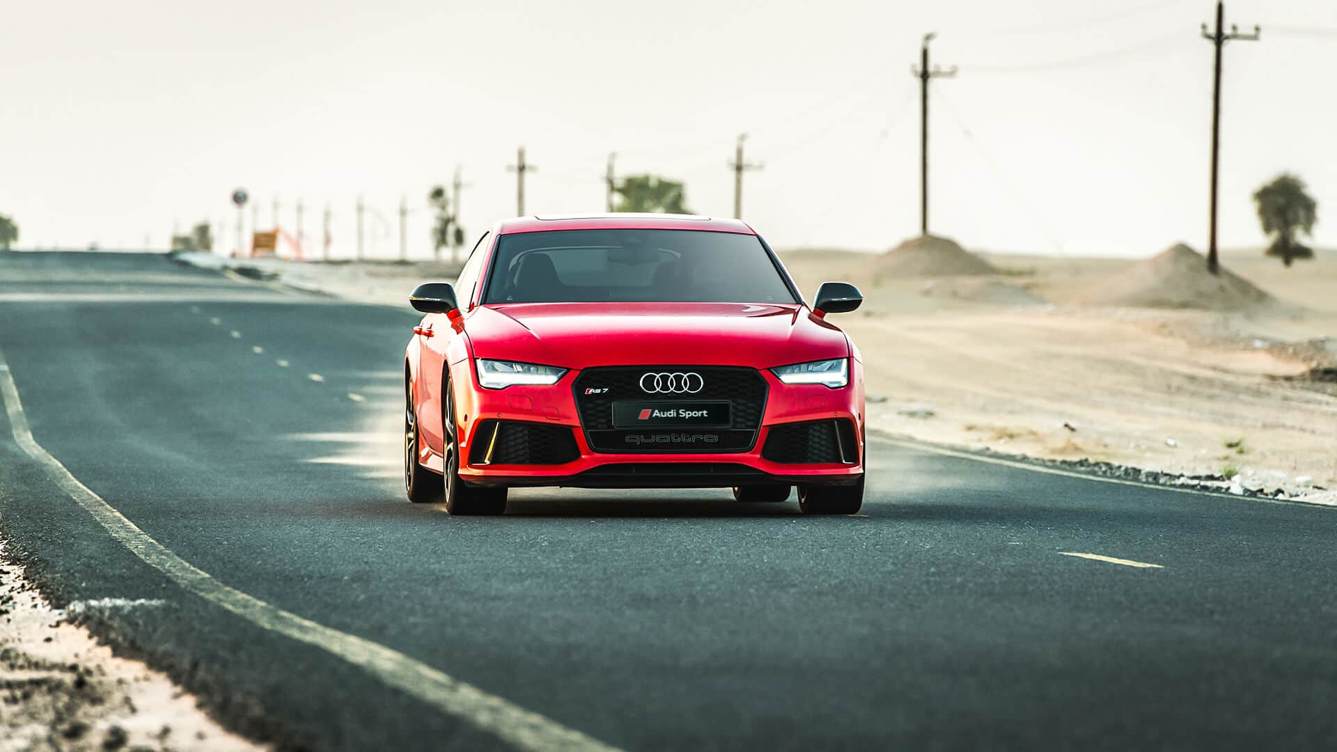 Audi Rs7 Sportback A7 Middle East 2017 With A Red Colour Play